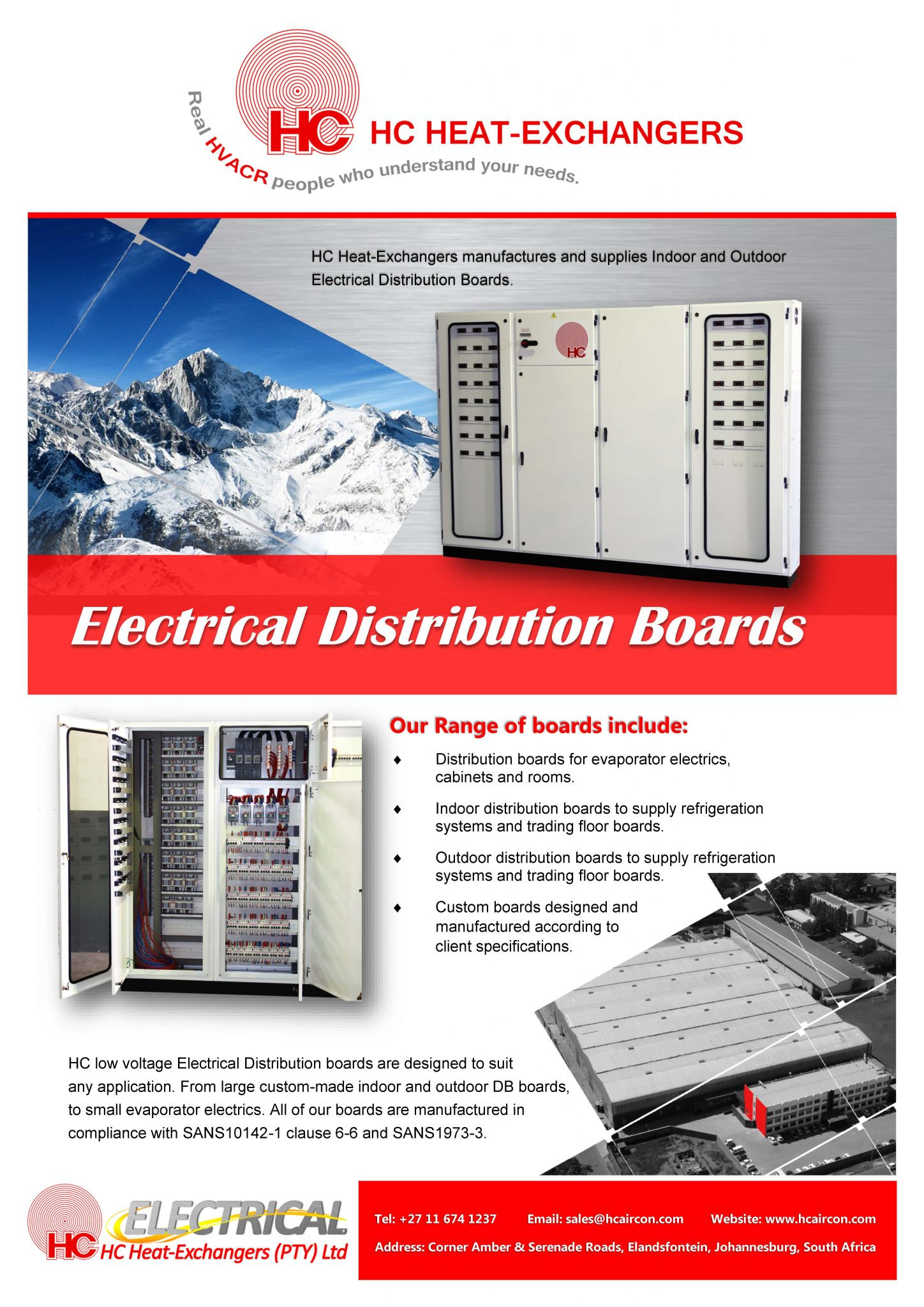 Electrical Distribution Boards - HC Heat Exchangers